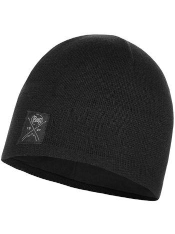 Buff Solid Hat Black