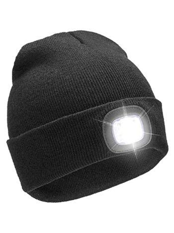 LED Light Up Beanie Hat Black (Adult)