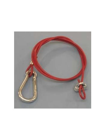 Breakaway safety cable - plastic coated