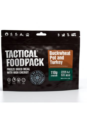 Tactical Foodpack Buckwheat Pot and Turkey 110g
