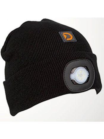 LED Light Up Beanie Hat Black (Kids)