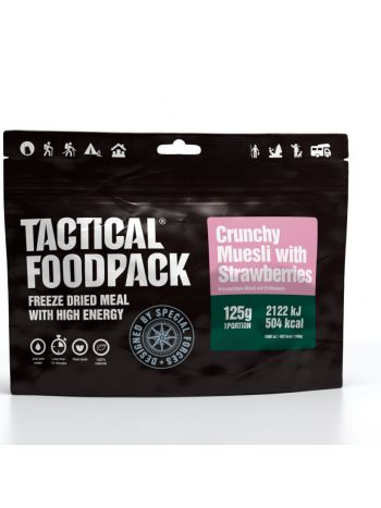 Tactical Foodpack Crunchy Muesli with Strawberries 125g