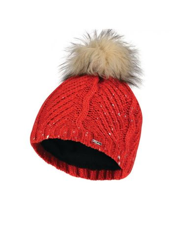 Dare2B Womes Crystalized Beanie Red