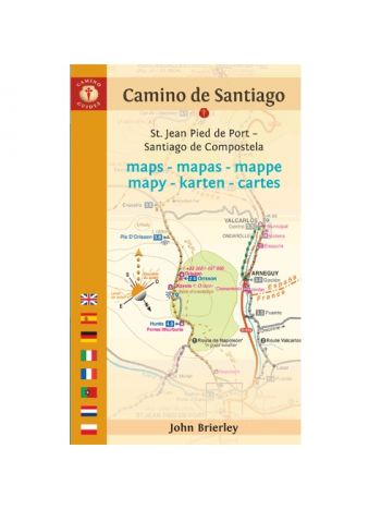 Maps Only Guide to the Camino de Santiago (Francés) and Finisterre