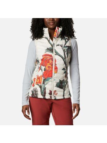Columbia Powder Lite™ Vest Chalk Botanica Print