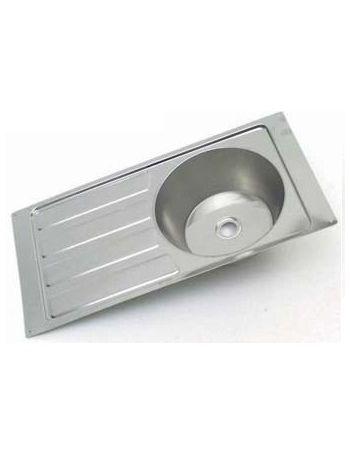 Steel Brite Sink & Drainer 552 x 355